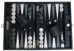 Backgammon CARBONE B21L Noire Medium, Alcantara playground, Hector Saxe, Paris Image 4