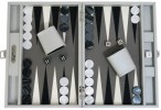 Backgammon CARBONE B21L Gris Medium, Alcantara playground, Hector Saxe, Paris Image 2