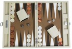 Backgammon CARBONE B21L Sable Medium, Alcantara playground, Hector Saxe, Paris