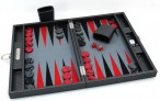 Backgammon COSMOS B49L Gris Medium, Alcantara, Hector Saxe, Paris