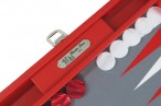 Backgammon BUFFALO B20L Rouge Medium Alcantara Hector Saxe Paris incl. Engraving Image 2