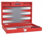 Backgammon BUFFALO B20L Rouge Medium Alcantara Hector Saxe Paris incl. Engraving Image 3