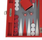 Backgammon BUFFALO B20L Rouge Medium Alcantara Hector Saxe Paris incl. Engraving Image 4