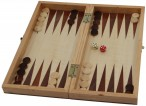Chess - Backgammon cassette game with inlaid playing fields