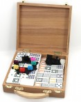 Domino MEXICAN TRAIN DOUBLE-12, wooden box