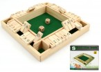 SHUT THE BOX for 4 players, 10-shut variation, 1 - 10, dice game