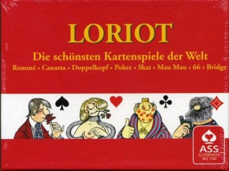 LORIOT-RAMI, illustration Loriot, 2x52 cartes + 6 Joker