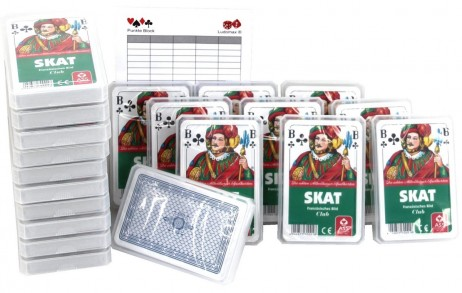 20 pieces of SKAT Club, french picture, 32 cards + Ludomax writing pad