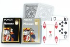 2x Poker 4J Gray und Black  von MODIANO, 100% plastic Casino Pokerkarten