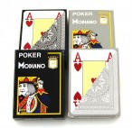 4x Poker 4J Gray und Black  von MODIANO, 100% plastic Casino Pokerkarten
