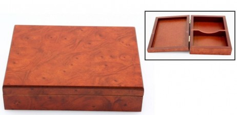 Decorative Playing cards wooden box (no cards included)