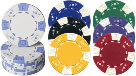 AK DESIGN, 2- tone Poker Chips