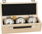 OBUT K3 Point, Boules Set, in wooden box, ideal for Present