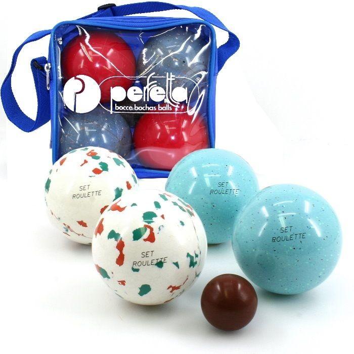 perfetta roulette italien bowls boccia set 4er set boule boccia boccia sets balls. Black Bedroom Furniture Sets. Home Design Ideas