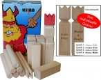 KUBB the Swedish trend game with engraving, quality Made in Italy