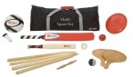 The Multi Sport Set includes Baseball, Soccer, Beachball, Frisbee and more