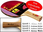 Table-Tennis-Racket Pioneer 2-Star with engravement